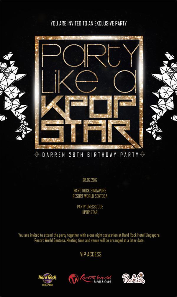 Kpop Birthday Invitations Party Like A Kpop Star Birthday Party with Bbfs Darren