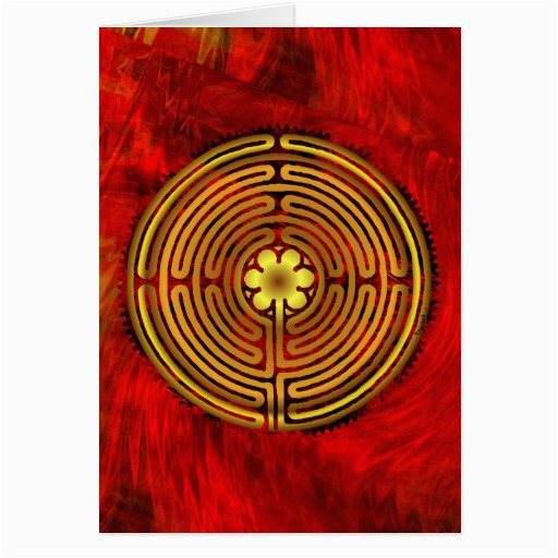 chartres labyrinth fire greeting card zazzle