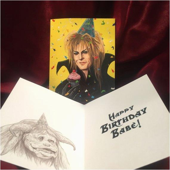 jareth labyrinth birthday card