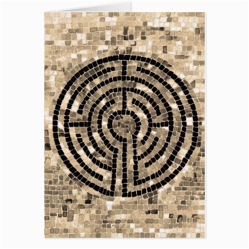 labyrinth v greeting card zazzle