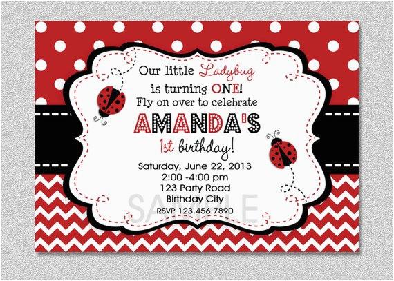 ladybug birthday invitation ladybug