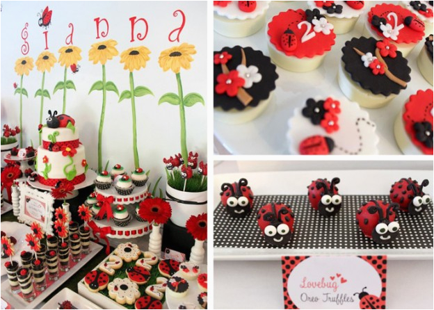 Ladybug Decorations For 1st Birthday Party Kara 39 S Ideas Cute Girl Themes Archives
