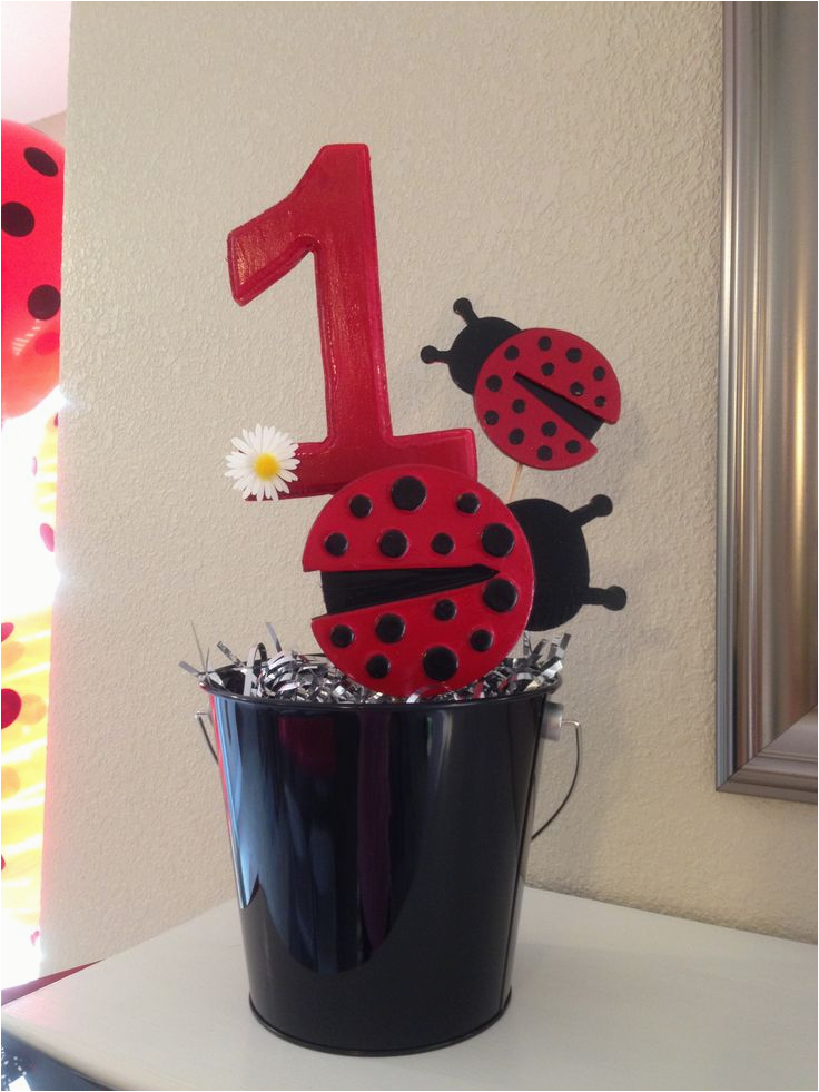 Ladybug Decorations For 1st Birthday Party Ladybugs Theme