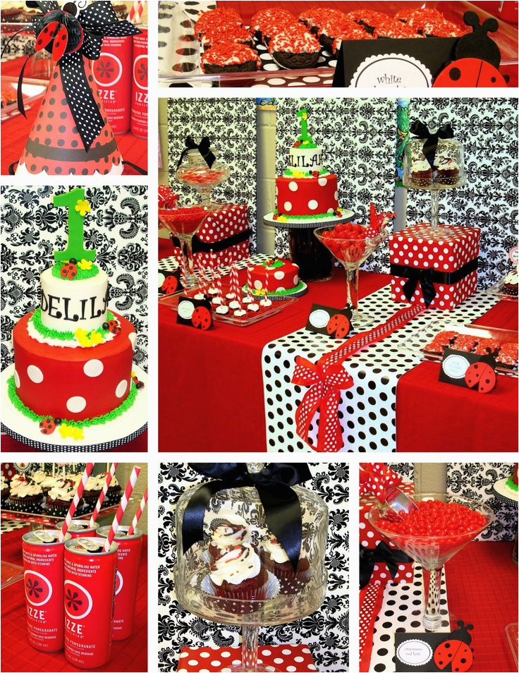 Ladybug First Birthday Decorations 1st Party Ideas Pinterest