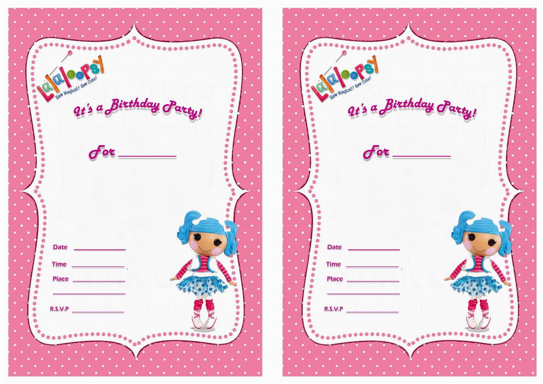 free lalaloopsy birthday invitations