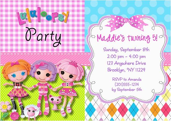 lalaloopsy birthday party invitations