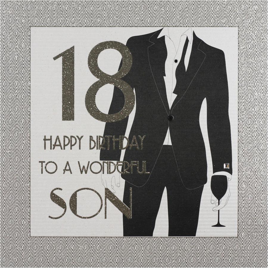 Large 18th Birthday Cards for son 18th Birthday Wonderful son Large Handmade Birthday Card