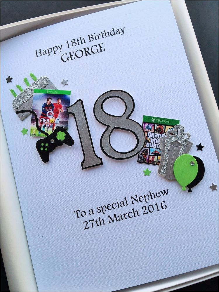 Large 18th Birthday Cards For Son Personalised 18th Birthday Card