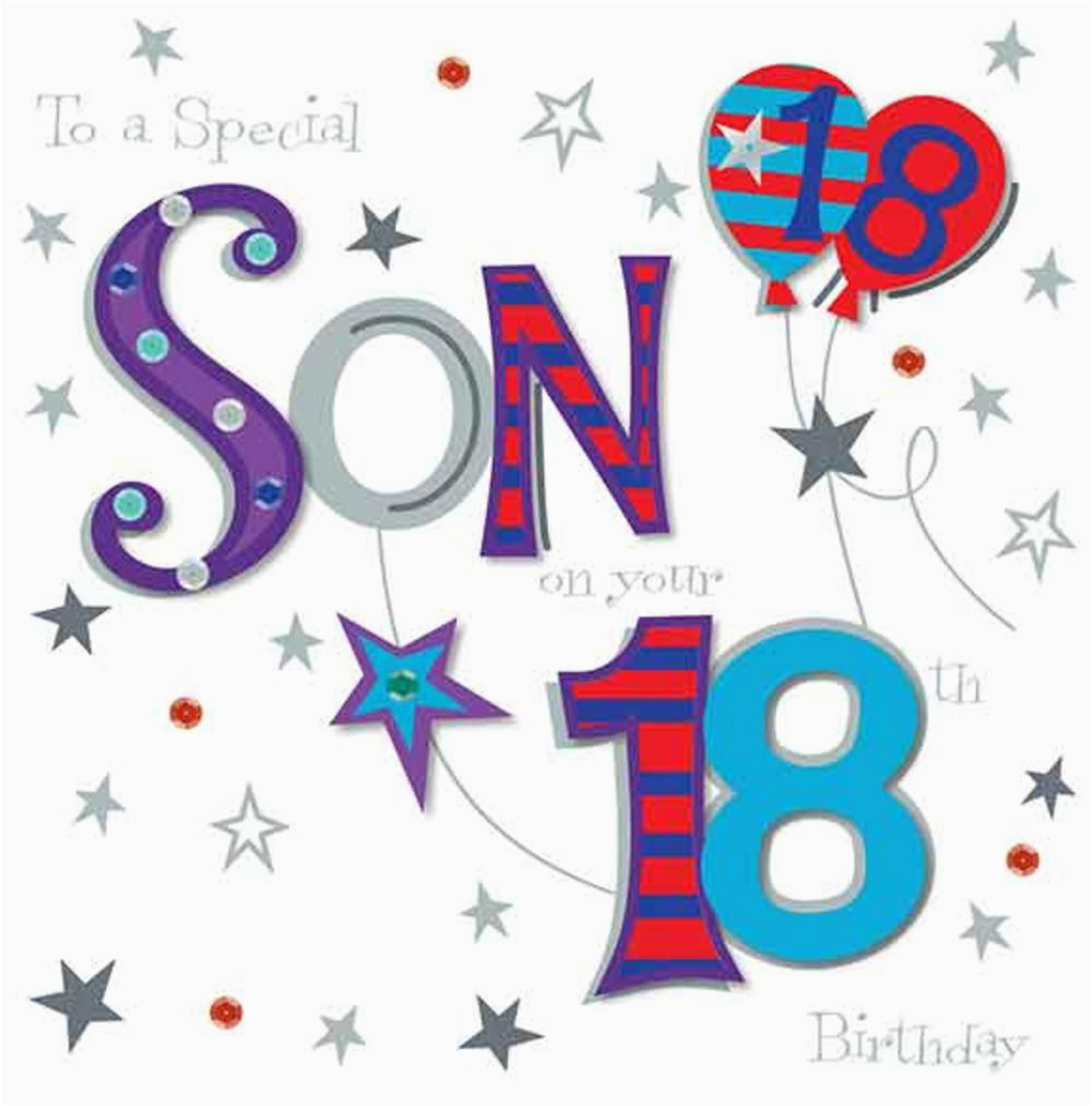 Large 18th Birthday Cards For Son On Your Greeting Card Love Kates