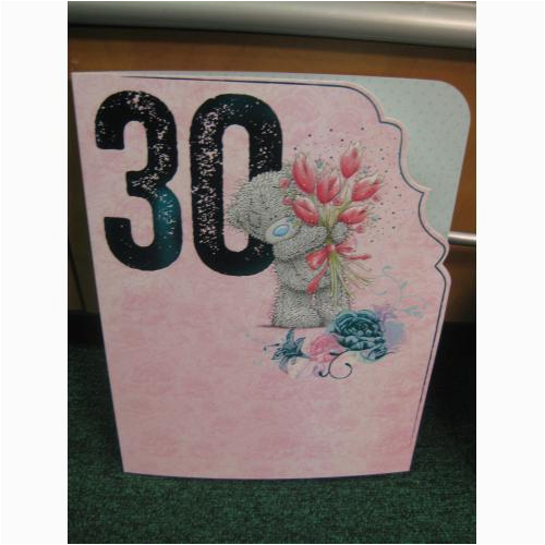 30th birthday card large me to you happy birthday