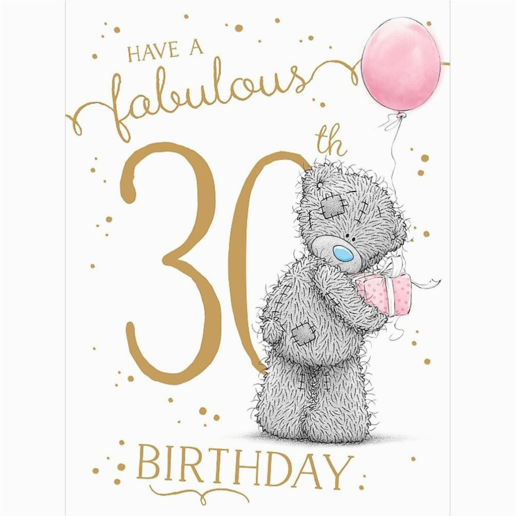 fabulous 30th large me to you bear birthday card a01ls136