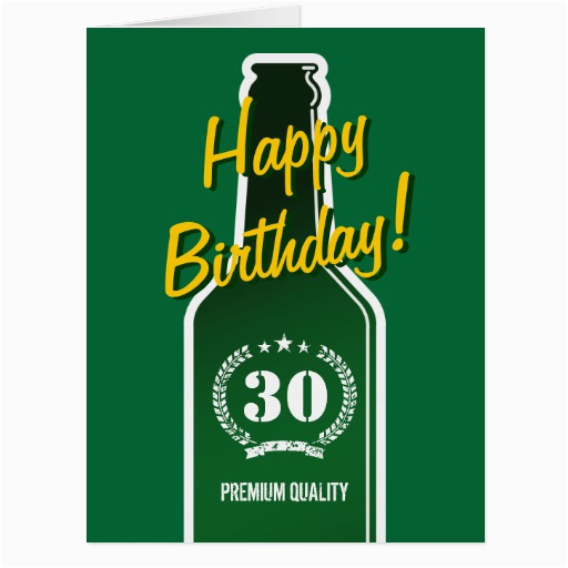 happy 30th birthday big extra large card for men zazzle