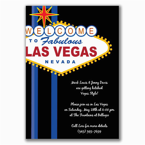 Las Vegas themed Birthday Invitations Vegas Party Invitations Oxsvitation Com