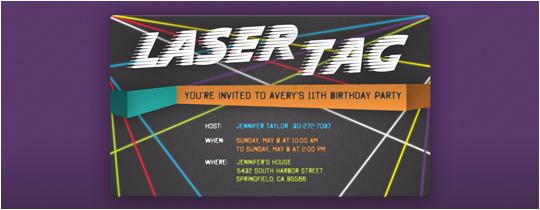 Laser Tag Birthday Invitation Templates Free Laser Tag Birthday Party Invitation Template Best Happy