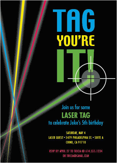 Laser Tag Birthday Invites Party Invitations Laser Tag at Minted Com