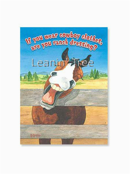 leanin 39 tree ranch dressing cowboy birthday card 17675
