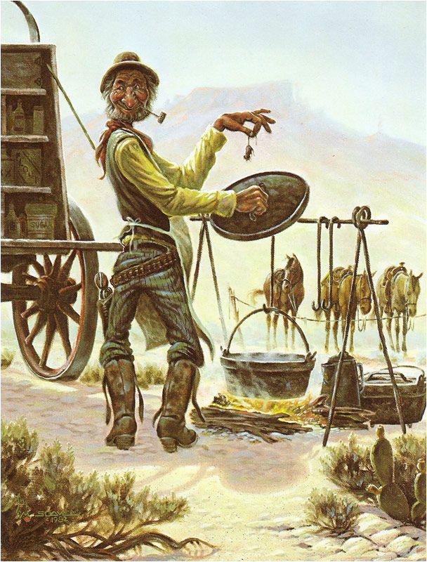 leanin 39 tree stew meat birthday greeting card cowboys
