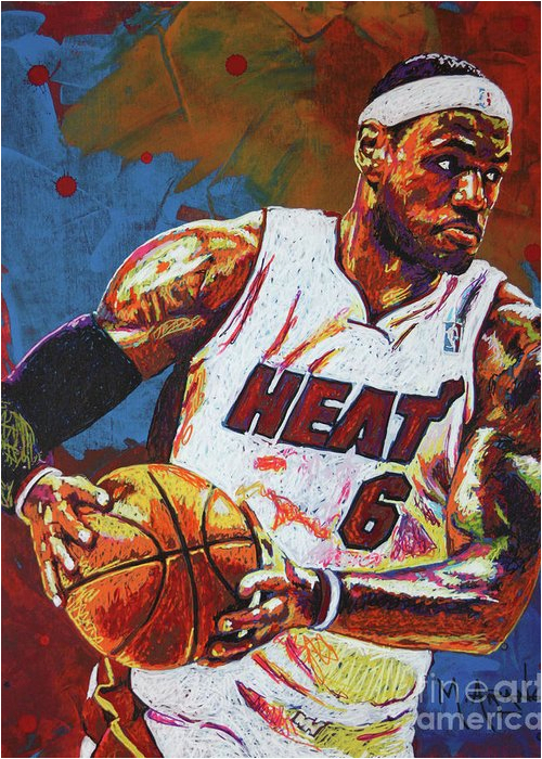 Lebron James Birthday Card Lebron James 3 Greeting Card for Sale by Maria Arango