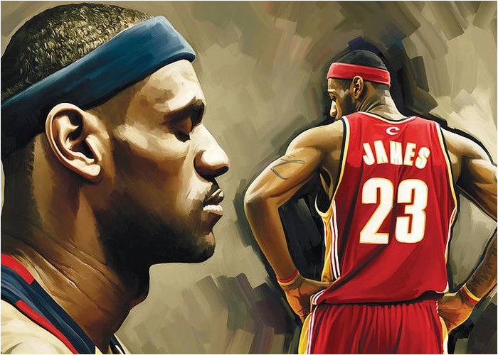 Lebron James Birthday Card Lebron James Art Fine Art America