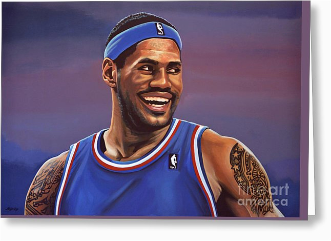 Lebron James Birthday Card Olympic Greeting Cards Fine Art America
