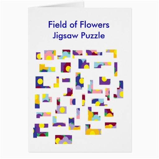 field of flowersjigsaw puzzle greeting card zazzle