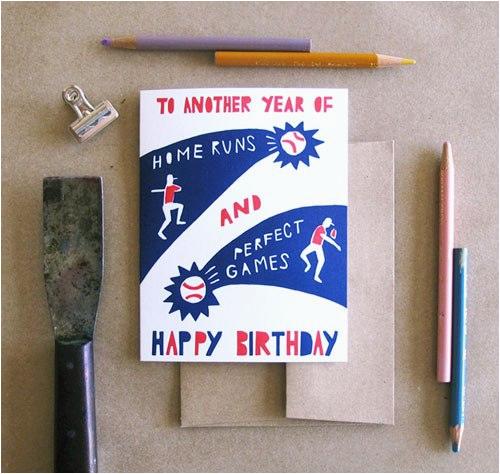 left field cards letterpress baseball cards postcard size