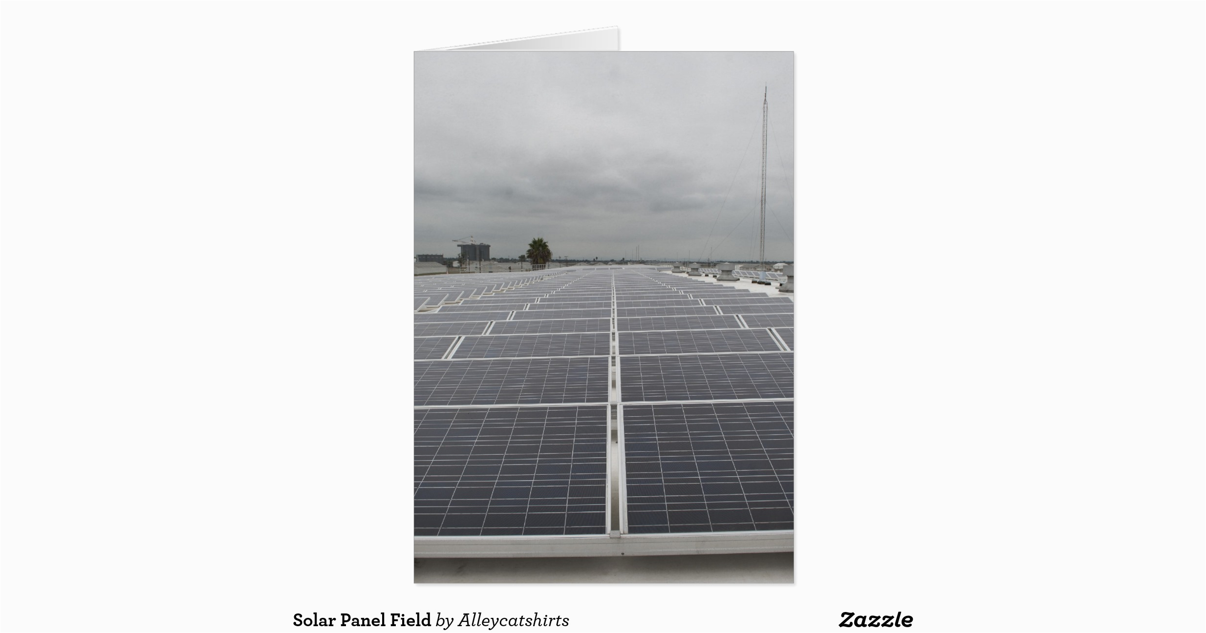 solar panel field greeting card zazzle
