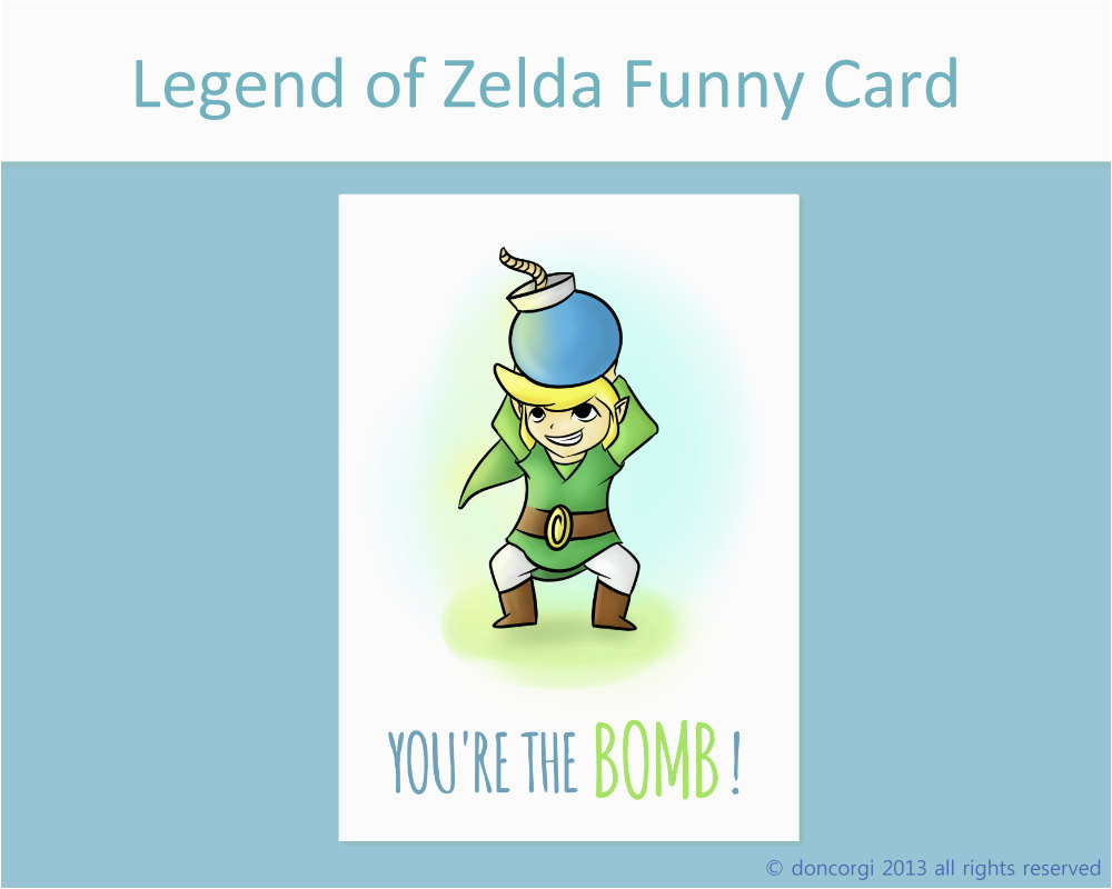 legend of zelda funny card you 39 re the bomb