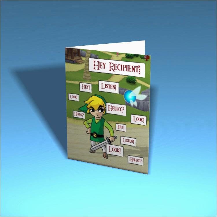legend of zelda greeting card navi custom printable etsy
