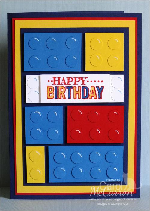 boys lego birthday card