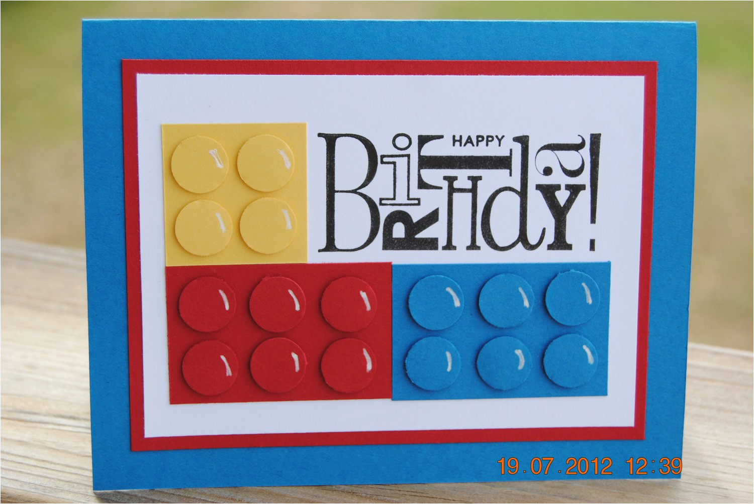 handcrafted kids lego style building