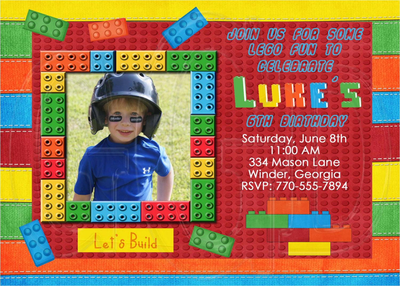 Lego Birthday Invitation Wording Party Invitations Egreeting Ecards