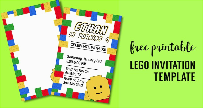 Lego Birthday Invitations Online Free Printable Party Invitation Template