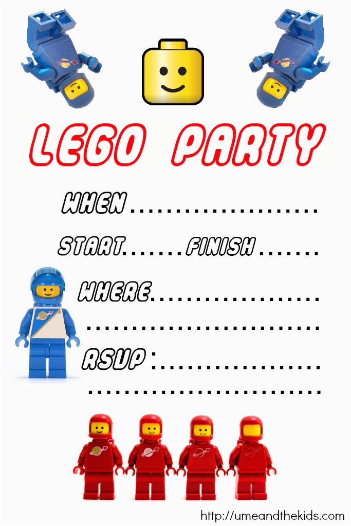 Lego Birthday Party Invitations Online Free Printable Lego Birthday Party Invitations U Me and