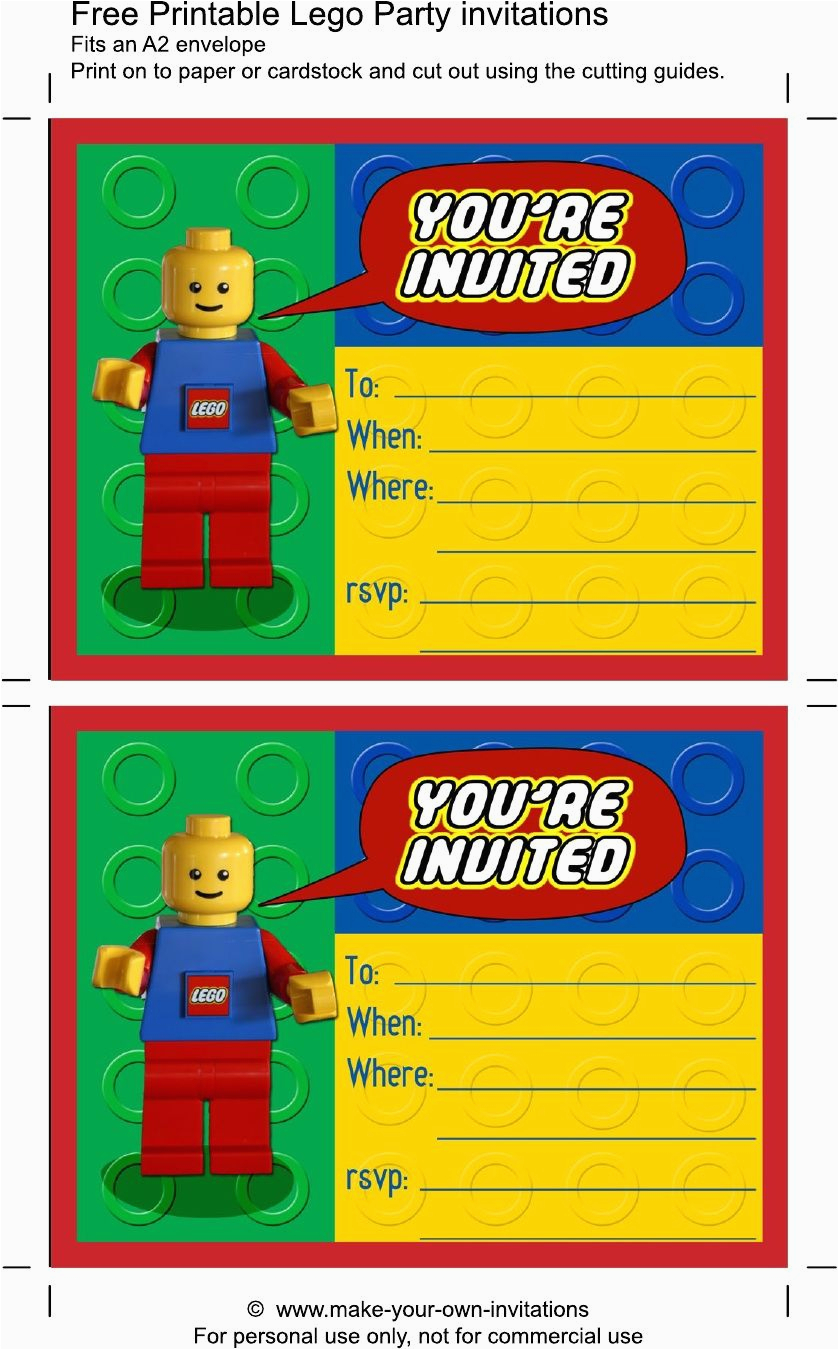 Lego Birthday Party Invitations Online Printable Scribd Aaron 39 S