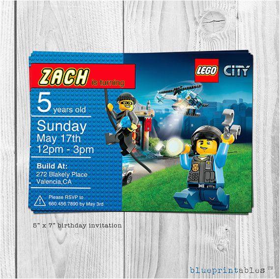 lego city printable invitation