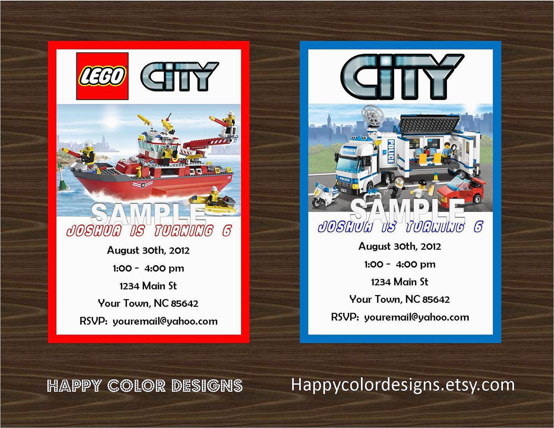 post lego city birthday invitations printable 91505