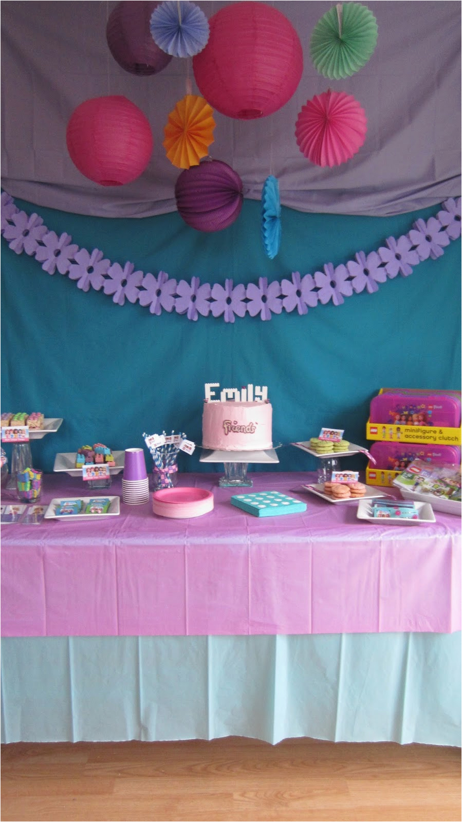 emilys lego friends birthday party
