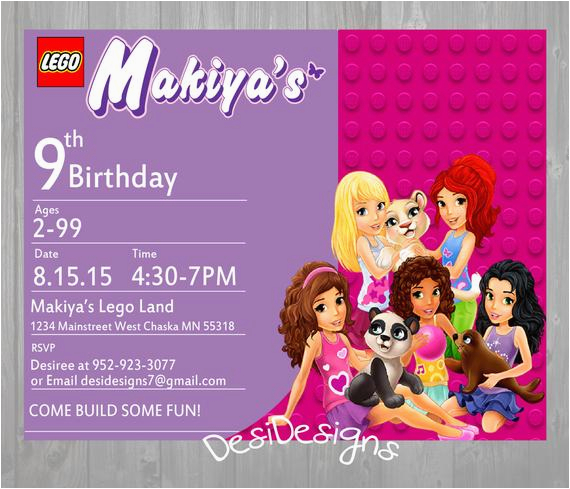 Lego Friends Birthday Invitations Invitation By Desidesigns7 On Etsy