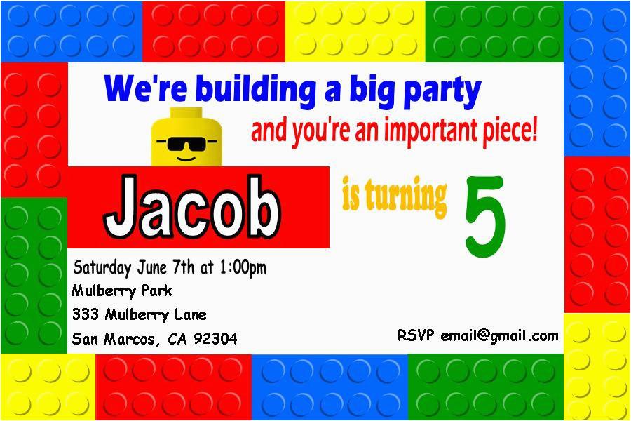 lego birthday invitation lego birthday invitation for the