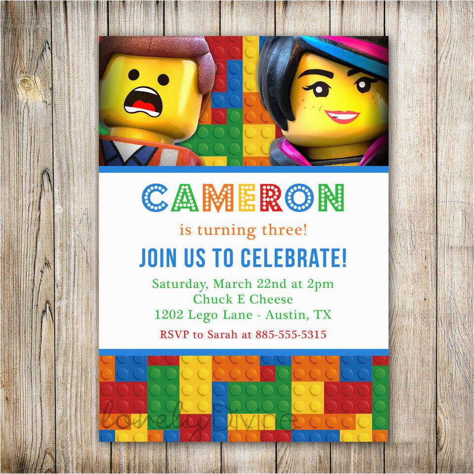 lego birthday invitation