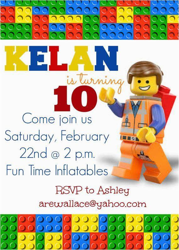 lego movie party invitations lego movie party invitation