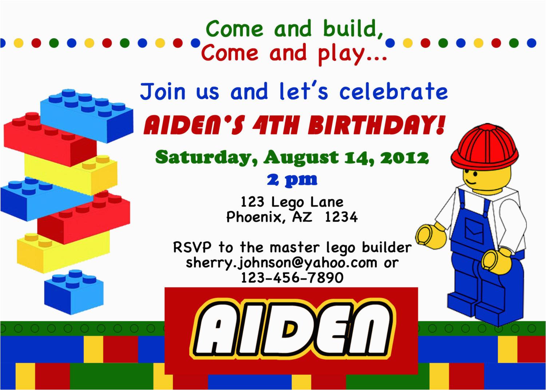 lego themed birthday party invitations dolanpedia