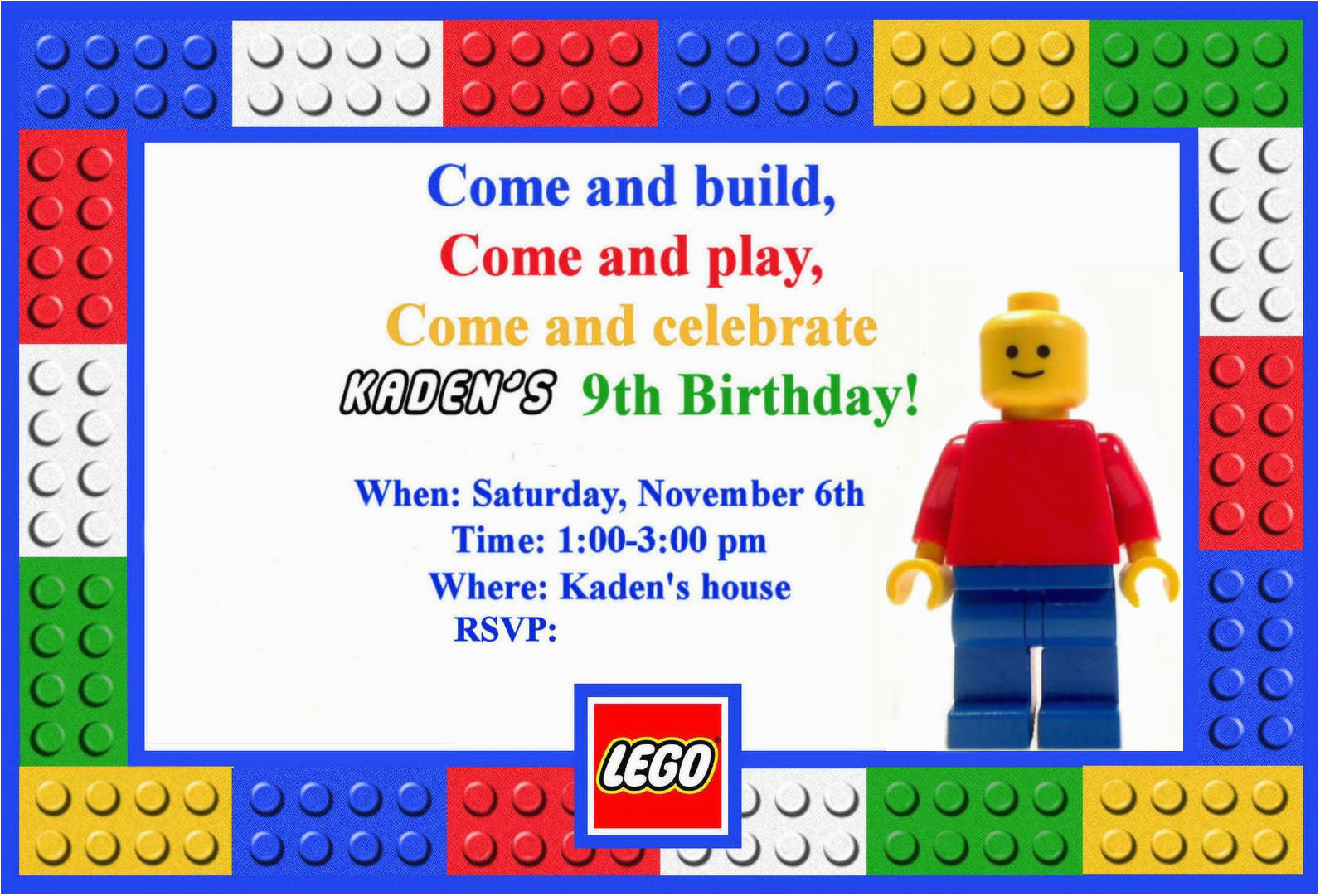 Lego Themed Birthday Invitations Homemaking Fun A Party Of