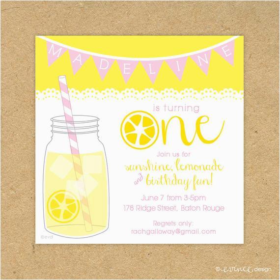 cute printed lemonade birthday party