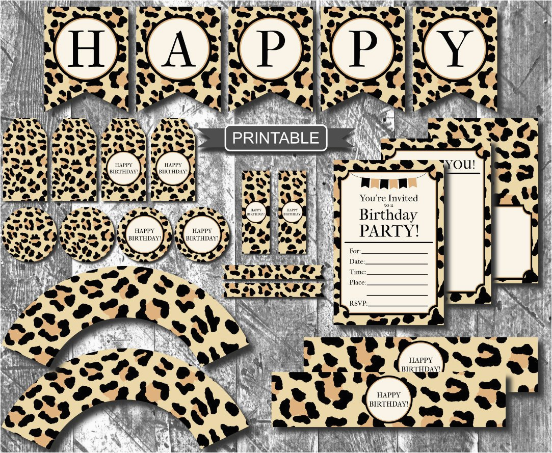 diy leopard print cheetah print birthday