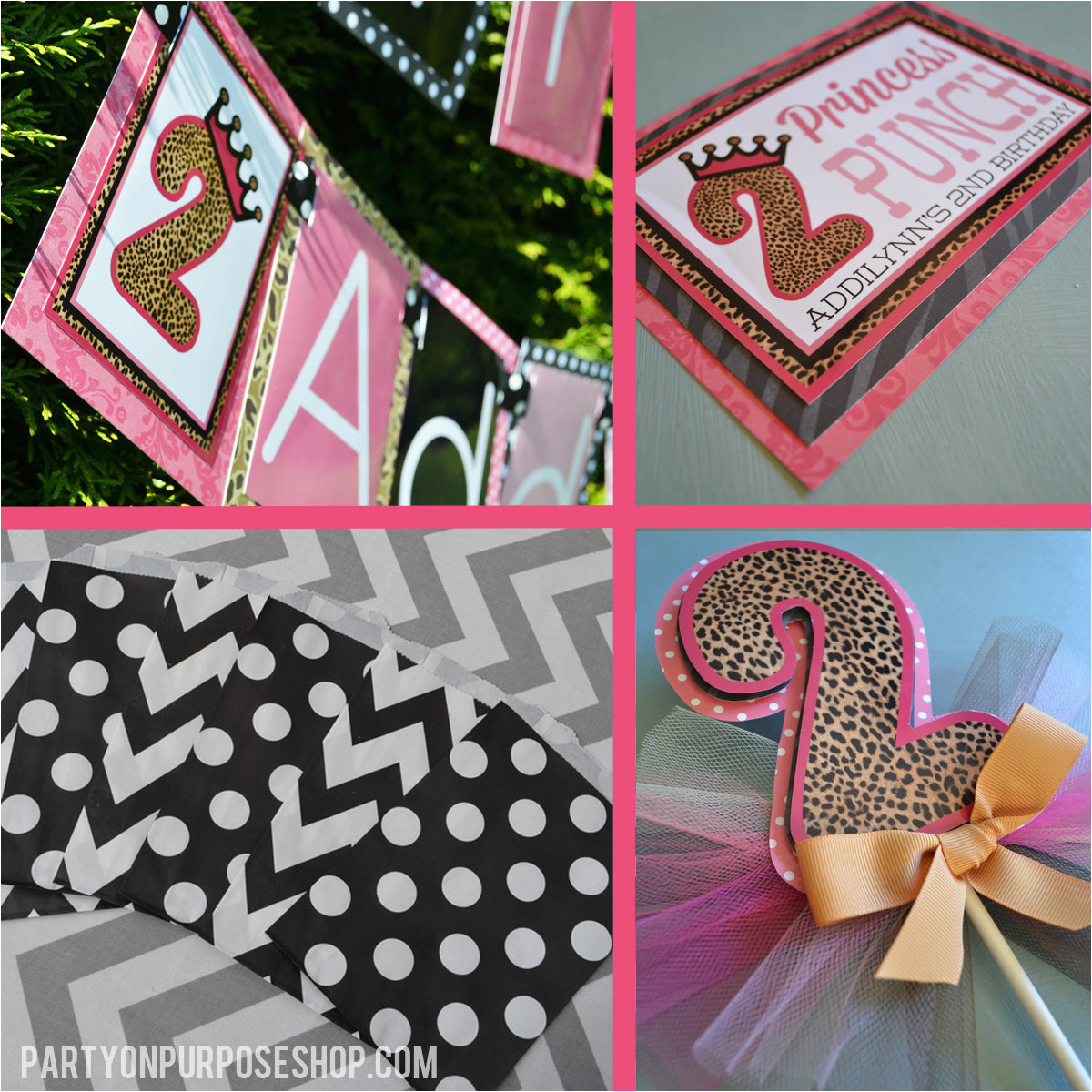 leopard print princess birthday party
