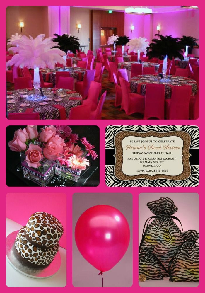 Leopard Print Birthday Party Decorations 20 Best Images About Sweet 16 Ideas On Pinterest