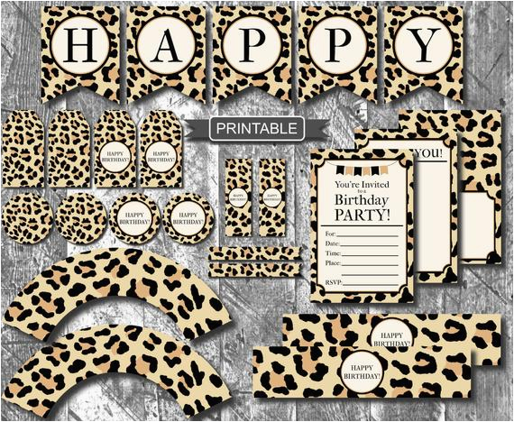 diy leopard print cheetah print birthday