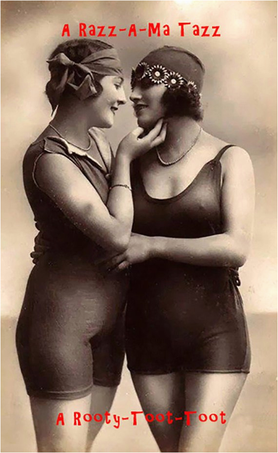 birthday card with vintage photo lesbian birthday card